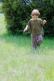 Cute boy on nature Royalty Free Stock Photography