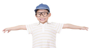 Cute boy open arm Royalty Free Stock Images