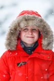Cute boy outdoors on winter Royalty Free Stock Photography