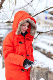 Cute boy outdoors on winter Stock Photography