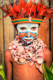 Cute boy in Papua New Guinea Stock Images