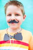 Cute boy with party accessories Royalty Free Stock Photos