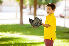 Cute boy playing some ball Royalty Free Stock Images