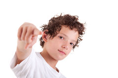 Cute Boy pointing Royalty Free Stock Photo
