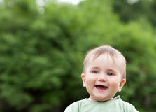 Cute boy portrait outdoor Royalty Free Stock Image