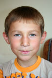 Cute boy portraits. A cute boy portraits while he is smiling Royalty Free Stock Photo