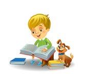 Cute boy reading book Stock Photography