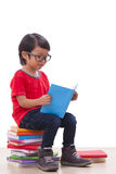 Cute boy reading a book Stock Image