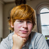 Cute boy with red hair Royalty Free Stock Photography