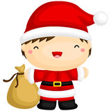 Cute Boy in Santa Costume Royalty Free Stock Photos