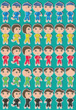 Cute Boy Set_eps Royalty Free Stock Photos