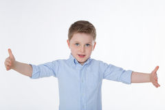 Cute boy with shirt Royalty Free Stock Photos