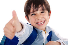 Cute boy showing ok sign Royalty Free Stock Photo