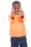 Cute boy showing thumbs up Stock Photography