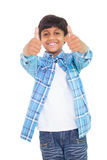 Cute boy showing thumbs up Royalty Free Stock Image
