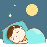 Cute boy sleeping well character  Stock Image