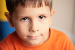 Cute boy smiling royalty free stock image
