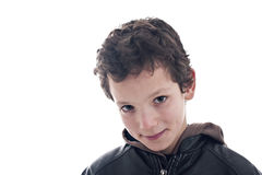 Cute boy, smiling. Isolated on white background Royalty Free Stock Images