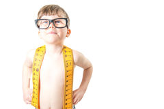 Cute boy smiling with large, goofy glasses Royalty Free Stock Photography