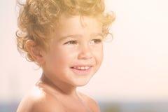 Cute boy smiling Royalty Free Stock Photos
