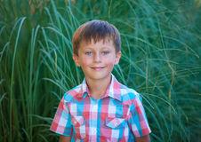 Cute boy smiling Royalty Free Stock Photos