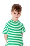 Cute boy smilling isolated Royalty Free Stock Photography