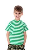 Cute boy smilling isolated Stock Image
