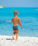 Cute boy snorkelling Royalty Free Stock Photography