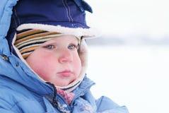 Cute boy in snowsuit Stock Photos