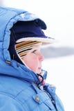 Cute boy in snowsuit Royalty Free Stock Photos