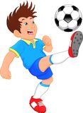 Cute boy soccer player. Vector illustration of cute boy soccer player Royalty Free Stock Images