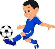 Cute boy soccer player Stock Photo