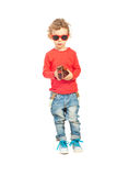 Cute boy with sunglasses Royalty Free Stock Image