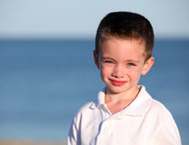 Cute boy in sunlight Royalty Free Stock Images