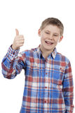 Cute boy with thumb up Stock Photos