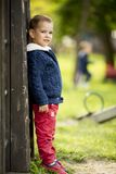 Cute boy by the tree Stock Photography
