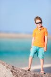 Cute boy on vacation Stock Photos