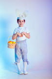 Cute boy wearing bunny ears Royalty Free Stock Images