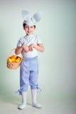 Cute boy wearing bunny ears Stock Photo