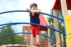 Cute boy (3 years) outdoors in summer Royalty Free Stock Photos