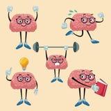 Cute brains cartoons. Icon vector illustration graphic design stock illustration