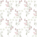 Cute branches of flowers seamless pattern Stock Image