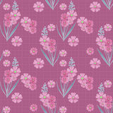 Cute branches of flowers seamless pattern texture on pink Royalty Free Stock Photo