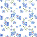 Cute branches of flowers seamless pattern texture Stock Image