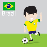Cute Brazilian soccer player. Royalty Free Stock Photography
