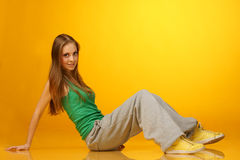 Cute breakdancer Royalty Free Stock Photo