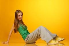 Cute breakdancer Royalty Free Stock Photo