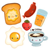Cute breakfast food. vector image Stock Image