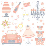 Cute bridal shower collection Stock Images