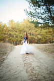 Cute Bride in American style Stock Photos